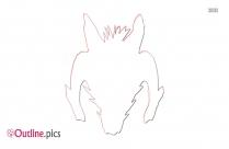 Satan Head Outline Image