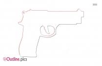 Shooting Gun Outline