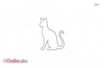 Running Cat Outline Tattoo