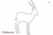 Dik Dik Outline Vector Clipart