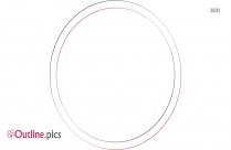 Simple Circle Border Outline Illustration