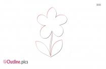 Clip Art Flower Outline Drawing