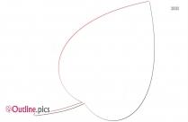Oval Leaf Clip Art Outline
