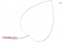 Cartoon Leaf Vector Outline