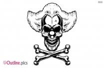 Scary Skull Outline Vector