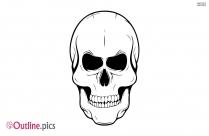 Skull Outline Clipart