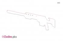 Sniper Rifle Outline Design