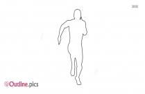 Boy Running Outline