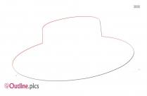 Spanish Hat Outline Background