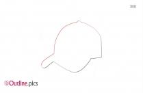 Sports Hat Outline Illustration