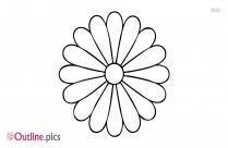 3d Flower Outline