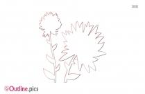 Spring Flowers Outline Sketch