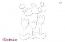 Spring Clip Art Outline Images
