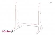 Squat Rack Outline Clip Art