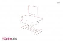 Stand Up Computer Desk Outline Design