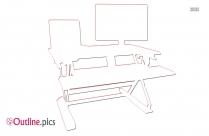 Standing Desk Outline Drawing