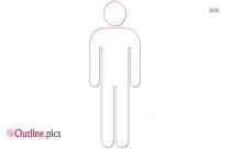 Stick Figure Male Outline Image