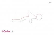 Stick Figure Push Ups Clipart    Push Outline Image
