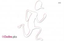 Stick Figure Pushing Outline Image