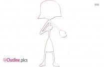 Woman Stick Figure Outline