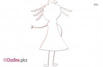Girl Baby Doll Outline Vector