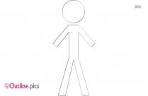 Flexible Stick Figure Outline Free Vector Art