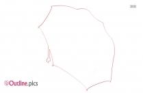 Stick Umbrella Outline Art