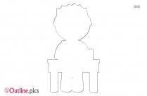 Sit Down Outline Sketch