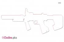 Submachine Gun Outline