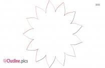 Aster Flower Outline Clip Art