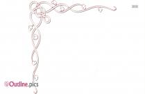 Swirl Border Outline Sketch