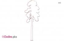 Tall Tree Outline Illustration