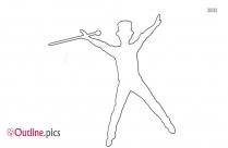 Tap Dance Pose Outline