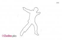 Outline Of Flamenco Woman Dancer
