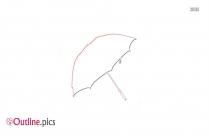 Outline Of Cartoon Umbrella