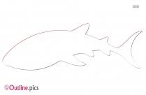 Tiger Shark Whale Outline Image