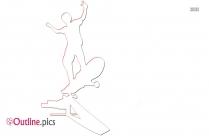 Toddler Skate Board Outline