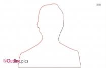 Emma Stone Outline Clip Art