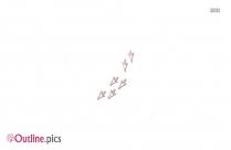 Human Footprints Outline Vector