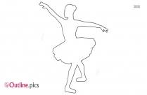 Tutu Ballerina Outline