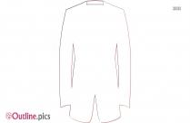 Tuxedo Jacket Outline Sketch
