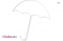 Stick Umbrella Outline Free Vector Art