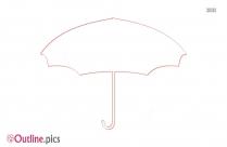 Umbrella Cartoon Clipart Outline Image
