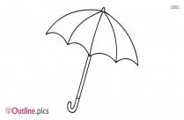 Umbrella Drawing Outline Vector