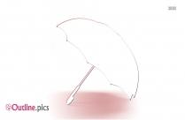 Umbrella On Floor Outline Free Vector Art