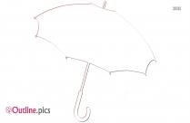 Umbrella Outline Art
