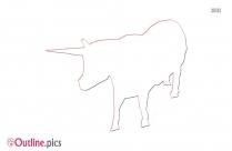 Unicorn Cow Outline Illustration