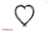 Heart Key Pendant Outline