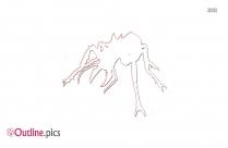 Vampire Ants Outline Illustration