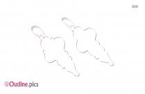 Vintage Boho Hoop Earrings Outline Vector